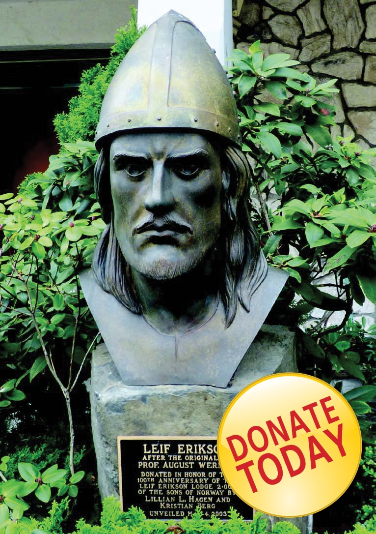Leif bust with button